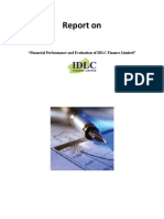Financial Performance & Evalution of IDLC Ltd.
