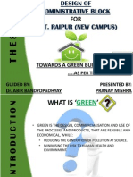 ADMINISTRATIVE BLOCK FOR N.I.T. RAIPUR (NEW CAMPUS) TOWARDS A GREEN BUILDING