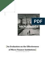 Evaluation on Mfi