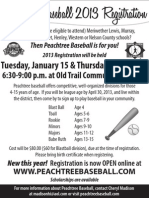 Peachtree Baseball 2013 Registration