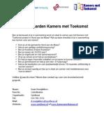 Randvoorwaarden Kamers Met Toekomst Horst Aan de Maas