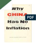 Why China No Inflanation
