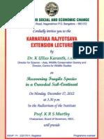 Karnataka Rajyotsava Extension Lecture-2012