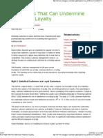 Five Myths that can Undermine Customer Loyalty