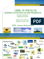 Biodiesel in the Eu 25 Current State and Future Prospects