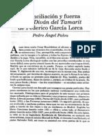 Reconciliación y fuerza en el Diván del Tamarit - Pedro Ángel Palou