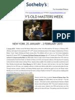 Old Masters Week PR January 2013