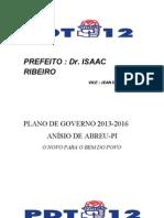plano de governo Anísio de Abreu