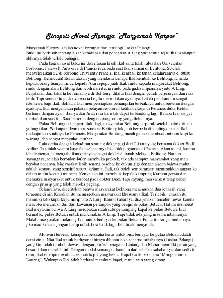 Novel remaja sinopsis 7 Resensi
