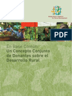 On Common Ground: A Joint Donor Concept on Rural Development (in Spanish)