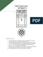 Liber Porta Lucis sub figurâ X
