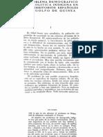 """Trujeda, Luis (1946) """"El problema demografico y la politica indigena en los terrirorios españoles del Golfo de Guinea,"""" Cuadernos de Estudios Africanos 1"""