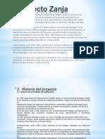 Proyecto Zanja DIAPOSITIVA