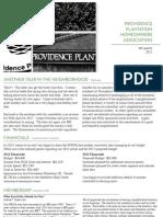 Providence Plantation HOA Newsletter December 2012