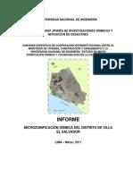 Informe Microzonificacion Sismica Ves