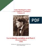Vol 18 - MARIATEGUI - Obras Completas Cronológicas. 1930.  (PROYECTO DE LIBRO - 2) (AUDIOLIBROS)