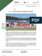 07-01-13 Boletin 1112 Fuerte Impulso Al Deporte en El Gobierno de La Gente