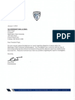 PAC-12 Conference report on WSU Football