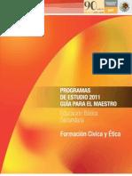 Formacion Civica y etica, secundaria