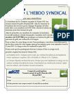 12. l'Hebdo Syndical 16 Mai 2012
