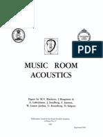 Music room acoustics