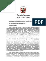 MINISTERIO DE EDUCACIÓN_Diciembre 2012