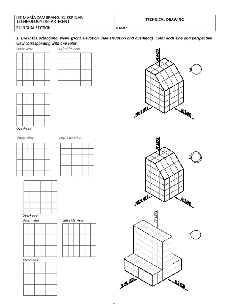 Exercises Technical Drawing