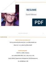Daniil Blinov CV Pre-Sale Consultant SAP BPC 10.0 08.01.2013 ENG (Ppt)
