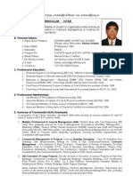 CV of Contracts Manager 24 yrs exp on large projects