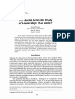The Social Scientific Study of Leadership