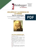 Heidegger Holderlin y La Esencia de La Poesia