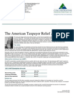 The American Taxpayer Relief Act of 2012