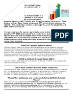 Purpose of Catholic Schools Week-For Bulletin