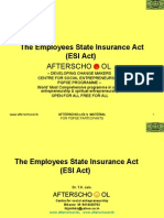 The Employees State Insurance Act (ESI Act)
