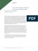 President Obama's Clean Energy Progress
