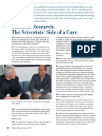Scientists' Side of a Cure (Interview With Drs. de Ridder and Langguth) - Summer '12