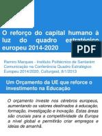 Comunicação Reforço do Capital Humano à Luz do Quadro Comunitário 2014-2020