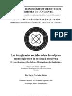 Los Imaginarios Sociales Sobre Los Objetos Tecnologicos en La Sociedad Moderna - Karla Preciado Robles