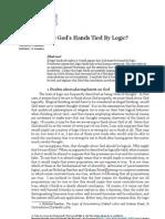 Apologetics - Ars Disputandi - Are God's Hands Tied By Logic - Benjamin Murphy, vol. 3, 2003