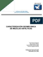 CARACTERIZACIÓN GEOMECÁNICA DE MEZCLAS ASFÁLTICAS