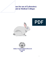 Guidelines for use of  Laboratory animals in Medical Colleges