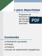 Nutricion en Deportistas(1)