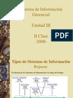 SIG Clase II Sistemas i