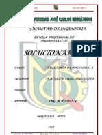 SOLUCIONARIO RESISTENCIA DE MATERIALES 2008-I