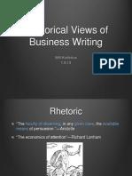 Rhetoric and Business Writing