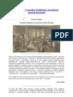 F. Engels – O upadku feudalizmu i początkach rozwoju burżuazji