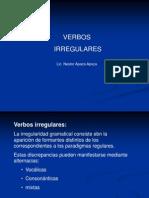 MORFOLOGÍA DE VERBOS IRREGULARES