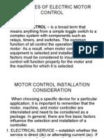 Principles of Electric Motor Control