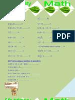 5th Math Revision