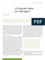 Does a Good Engineer Make a Good Project Manager?